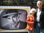 Author with Jack Webb's widow Coral
