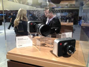 NAB 2013.   Model of Black Magic's new 4K Camera.